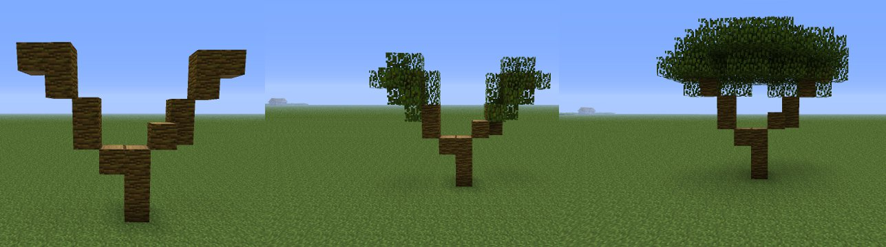 minecraft tree instructions image - Minecraft Japanese Tree