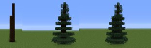 minecraft pine instructions image