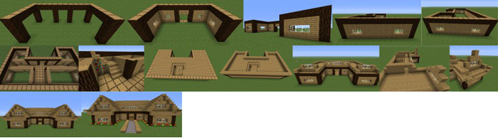 minecraft farm house instructions