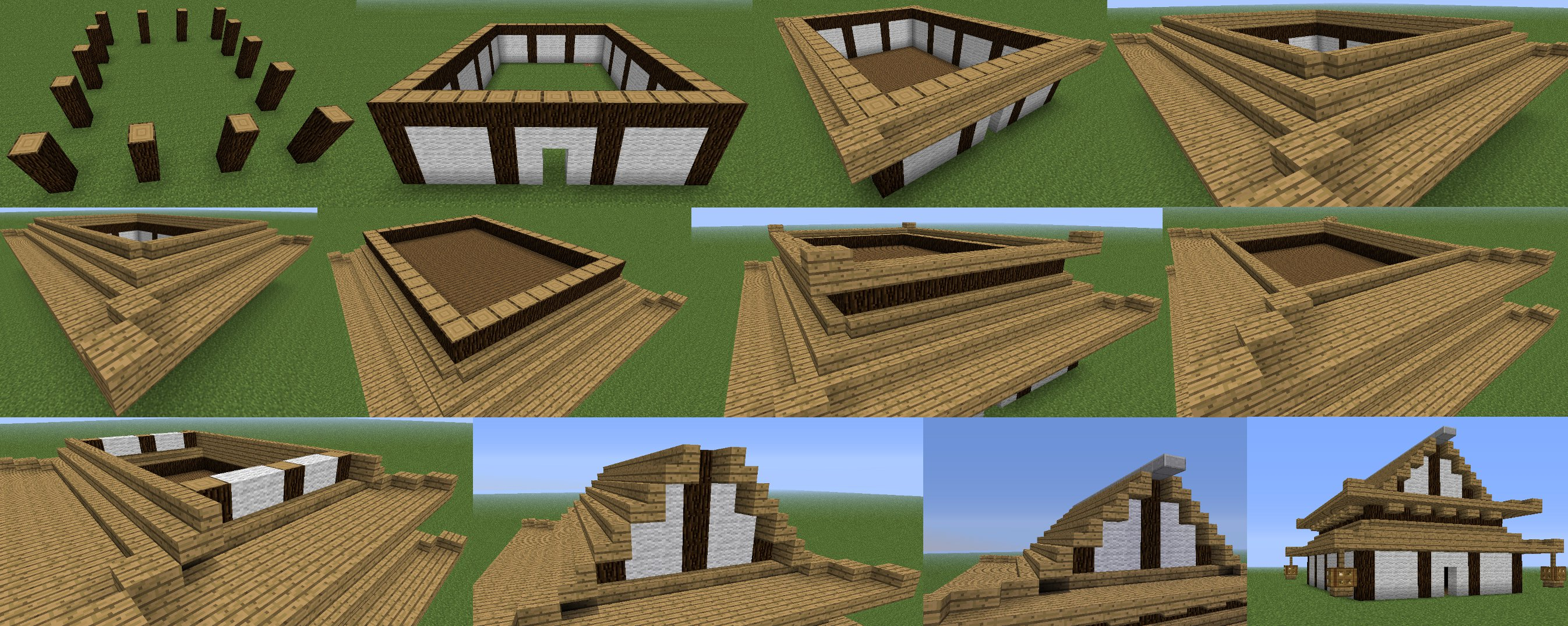 Japanese House Design Minecraft Rumah Joglo Limasan Work