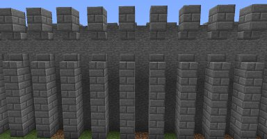 minecraft castle walls image