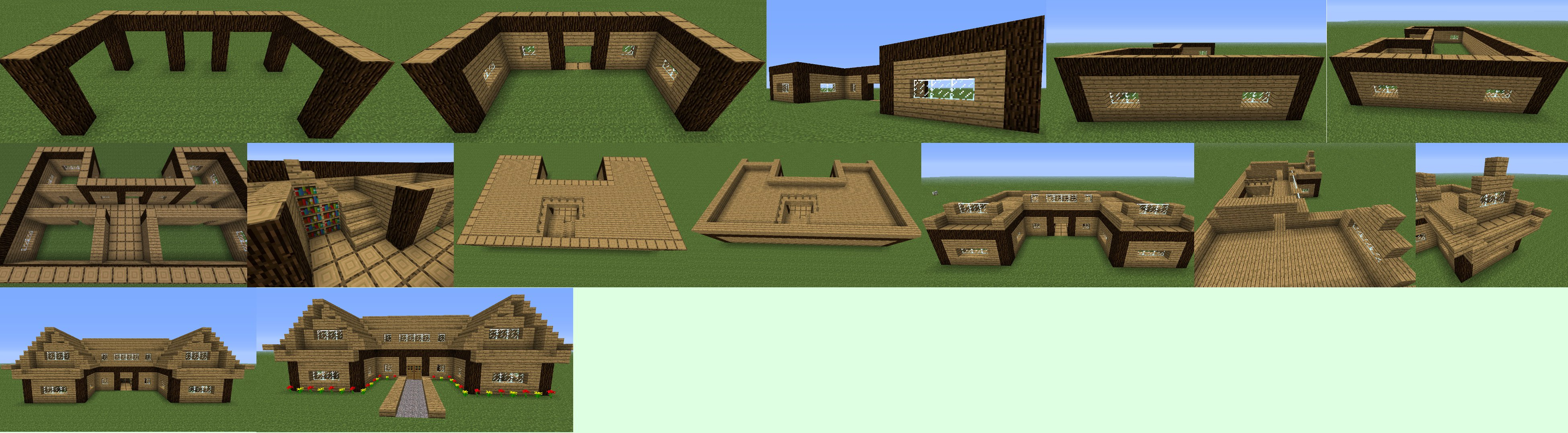 How to build a farm house in minecraft minecraft guides for How to build a house step by step instructions