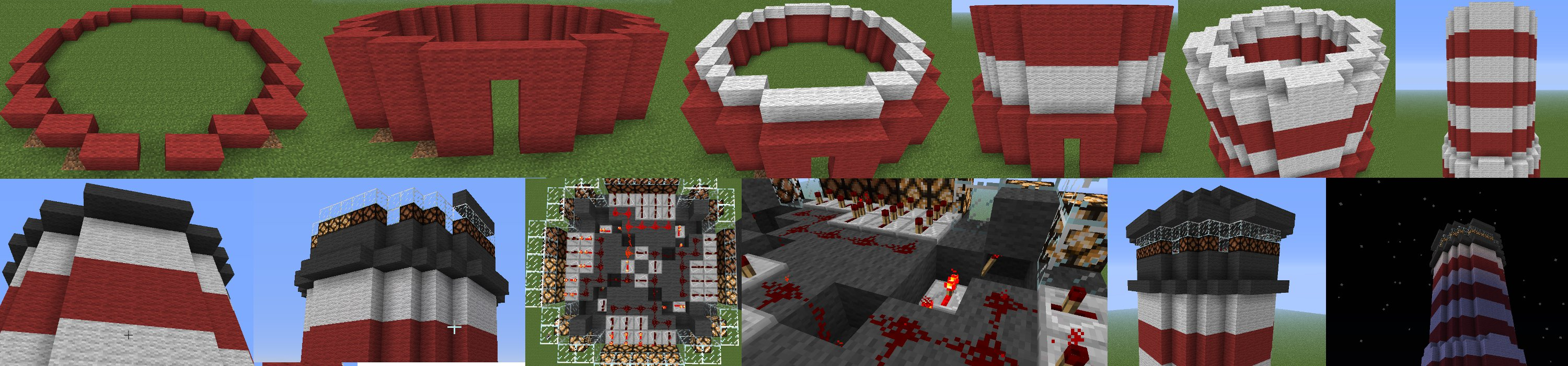 How To Build An Automatic Lighthouse Minecraft Guides Redstone Circuits Light Mechanisms