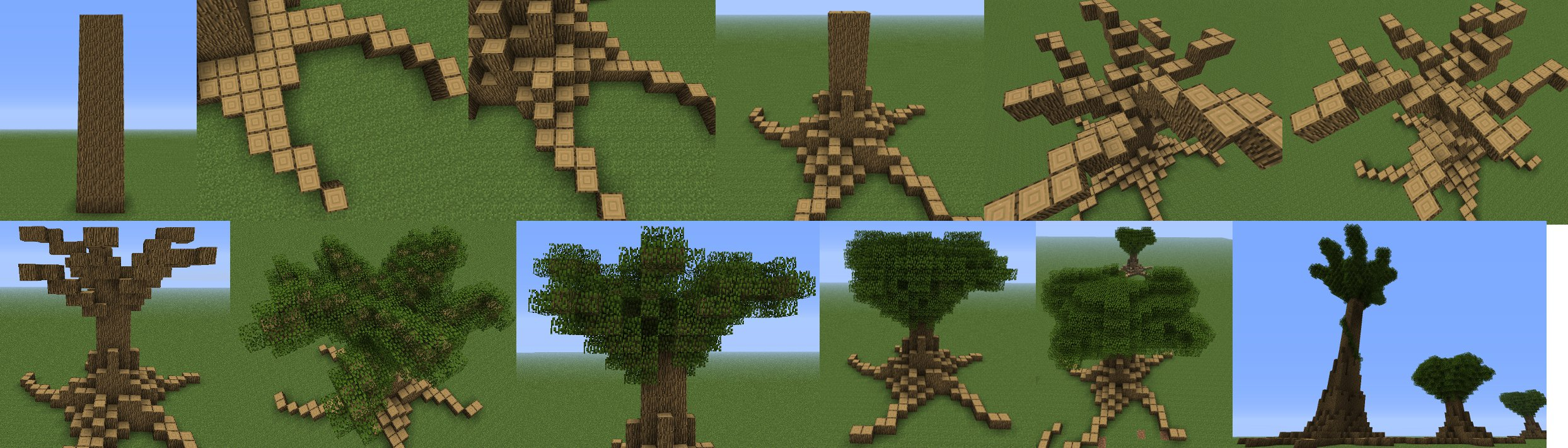 minecraft large tree instructions image - Minecraft Japanese Tree