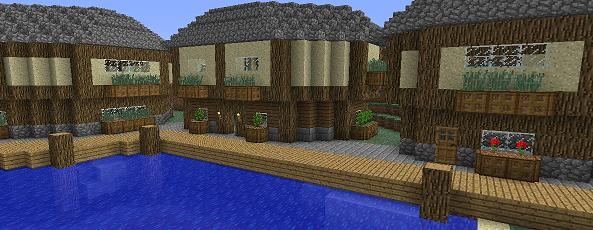 minecraft medieval harbour image
