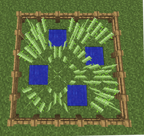 minecraft sugar cane farm image